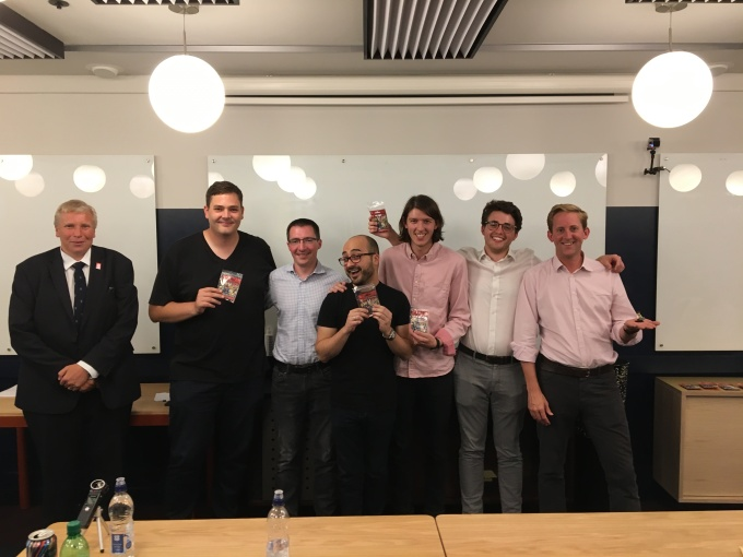 Corda Code Club best Corda idea prize Jose-Javier Lirio Florian Frimel Tom Leach and Joel Dudley judges Barry Childe Richard G Brown and Richard Crook
