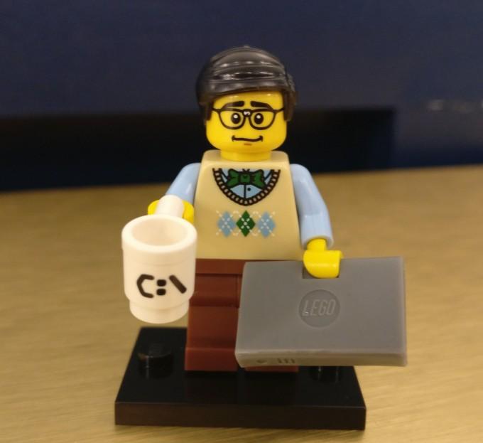 Corda Code Club Lego Minifig Computer Programmer